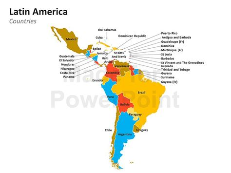 map of latin america latin america is made up of mexico latin america map editable ppt