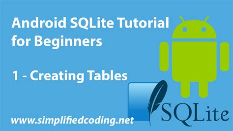 android sqlite tutorial android sqlite tutorial for beginners creating tables 1