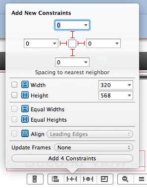 top layout guide uitableview objective c interface builder quot locking quot object to screen