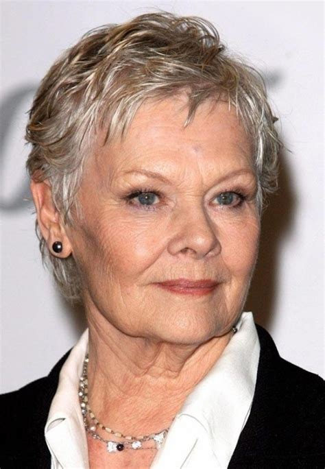 judy dench hairstyle front and back judi dench hairstyle back view hair