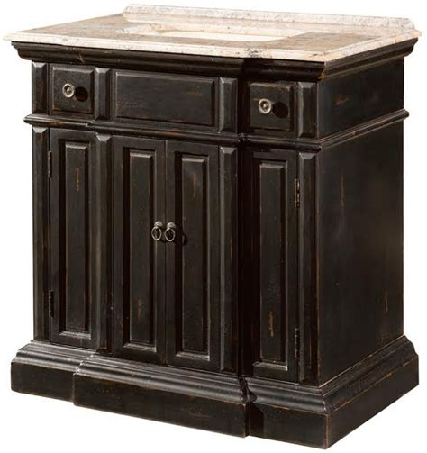 36 inch single sink bathroom vanity with a distressed