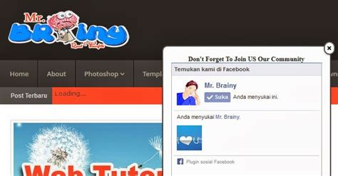 membuat facebook like cara membuat facebook like box melayang mr brainy