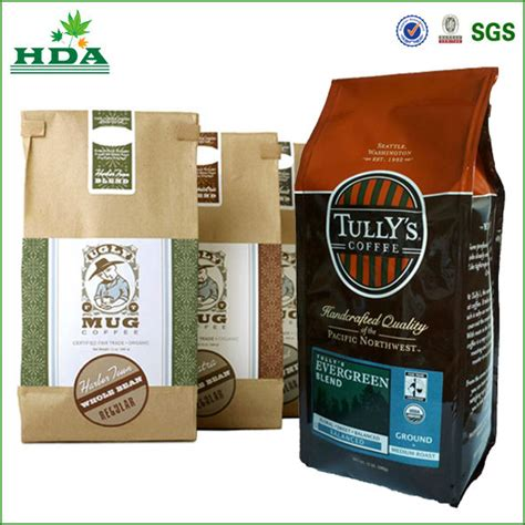 paper plastic custom printed coffee bags from china