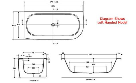 common bathtub dimensions images