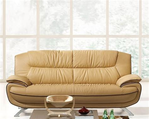 European Style Sectional Sofas European Design Sofa In Light Beige Finish 33ss72