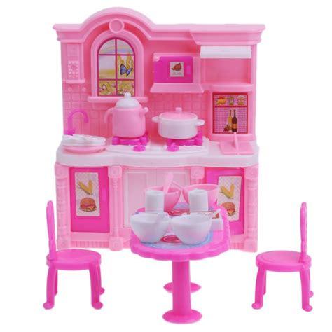 kitchen furniture accessories brand 26pcs dolls kitchen furniture accessories dining table chairs dinnerware cabinet