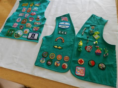 junior sash and vest girl scout junior sash badge placement