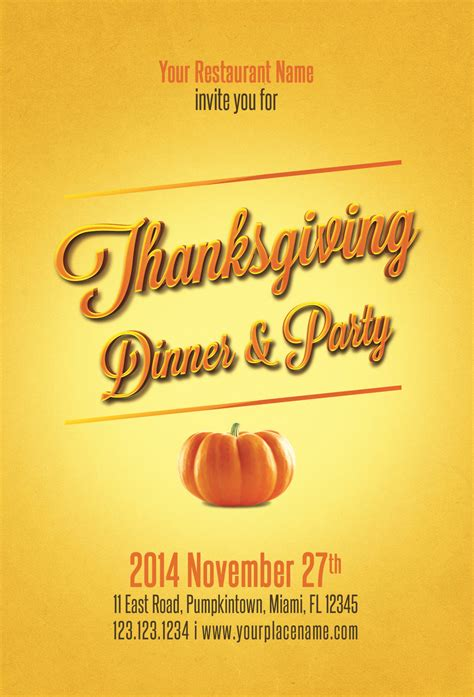 microsoft templates for thanksgiving flyers 23 free thanksgiving flyers psd word templates demplates