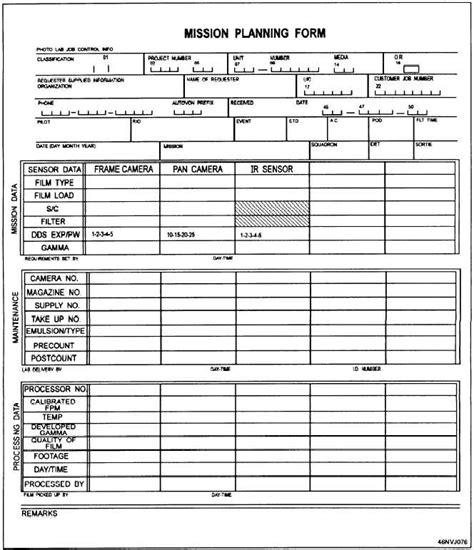 Figure 4 29 Mission Planning Form