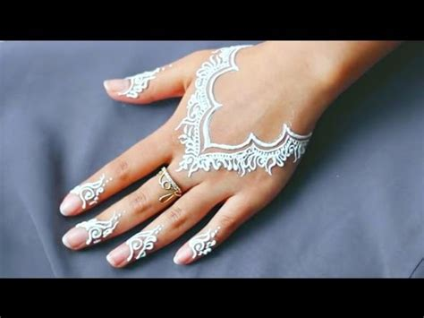 henna tattoo designs in white casual everyday necklace white henna design