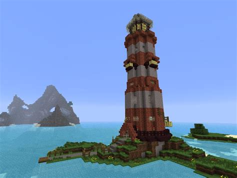 Cool House Blueprints by Pretty Cool Lighthouse Minecraft Pinterest