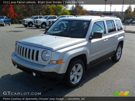 Jeep Patriot Silver Bright Silver Metallic 2011 Jeep Patriot Latitude