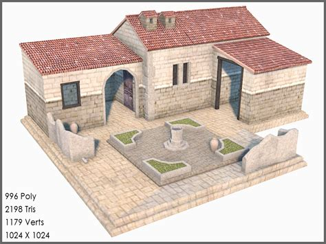 3d model and draws of house in athens irene kastriti classic greek roman house games 3d model