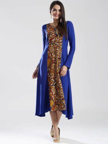 Maxi Maharanibelt anouk blue kalamkari printed maxi dress my designs