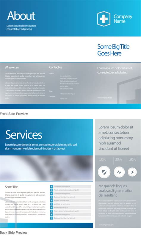 templates psd business leaflet psd template free psd files