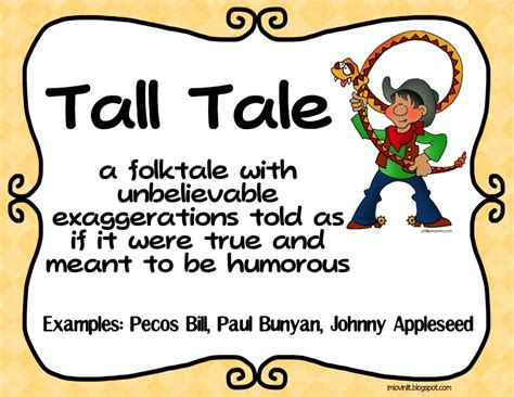 An American Folktale Of Exaggerations Learning With Mrs Carney Tales