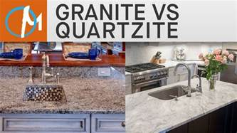 granite vs quartzite countertops marble