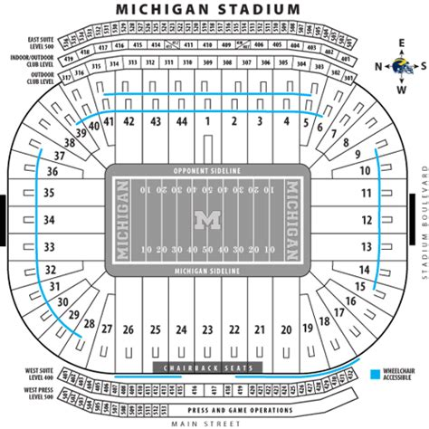 how many seats in the big house michigan stadium the big house wolverine football stadium