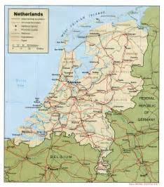 netherlands map netherlands maps perry casta 241 eda map collection ut library