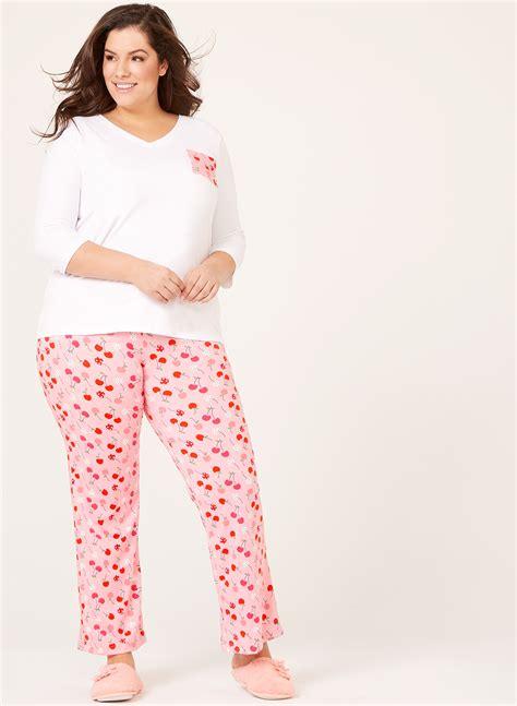 Set Kutubaru Pink Ib ib diffusion cherry print pajama set