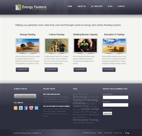 Home Page by Portfolio Energy Farmers Australia Blaze Digital Geraldton