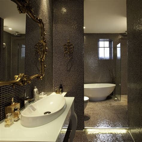 black mosaic bathroom create atmosphere bathroom tiles housetohome co uk
