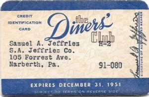 Diners Club Gift Card - the evolution of the credit card from paper to plastic to virtual relatively