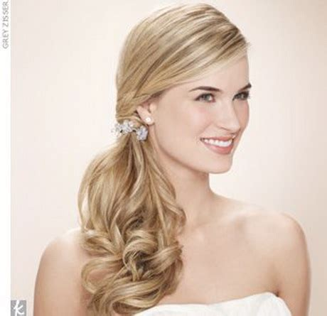 Wedding Hairstyles Side Ponytail With Veil by Side Ponytail Wedding Hair