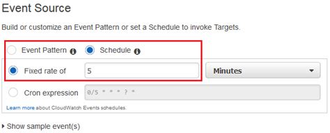 construct 2 events tutorial starting a state machine execution using cloudwatch events