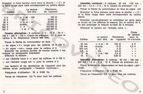 Multimetre Digital Mode D Emploi 3475 by Metrix Multim 232 Tres Analogiques