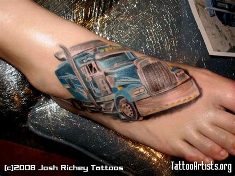 trucker tattoos 18 wheel the hunt for big rig tattoos