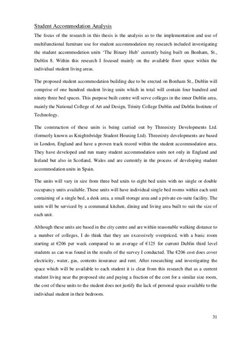 Tma01 Essay by Student Housing Thesis