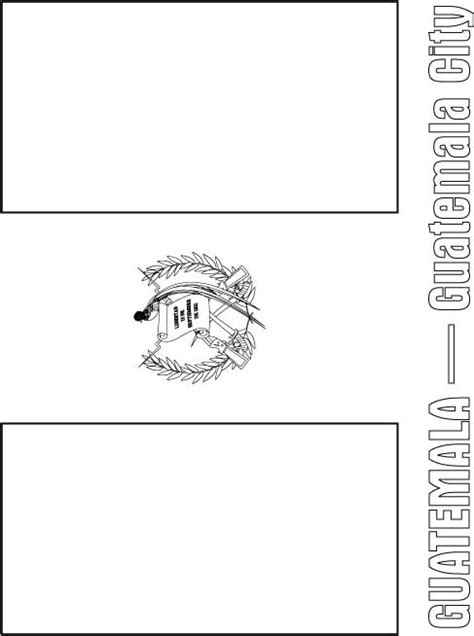 Guatemala Free Coloring Pages Guatemala Flag Colouring Pages Page 2