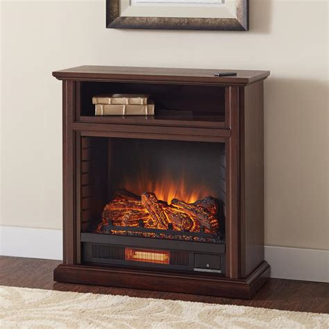 Hton Bay Electric Fireplace Reviews by Hton Bay Ansley 32 In Rolling Mantel Infrared Electric