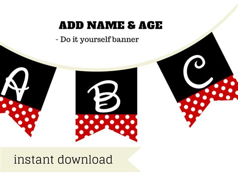 printable minnie mouse birthday banner free minnie mouse banner disney font magical printable