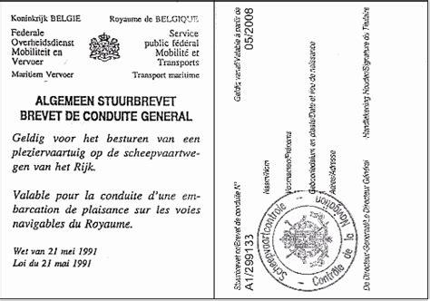 vaarbewijs dienstboekje theorie belgisch stuurbrevet vaarbewijs icc www