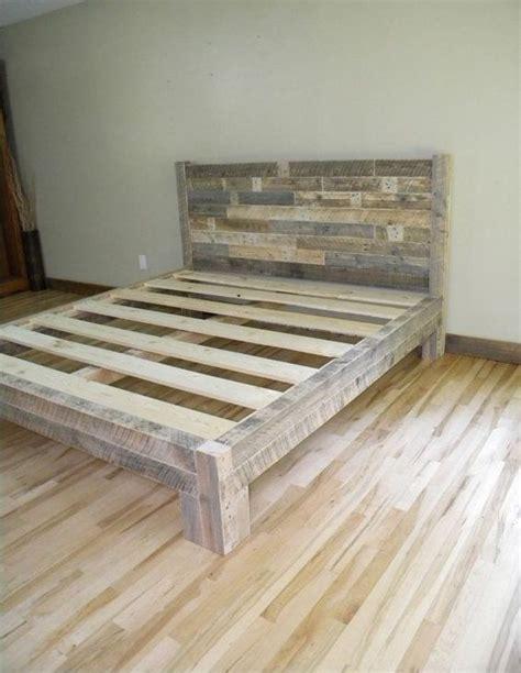 king bed king headboard platform bed reclaimed