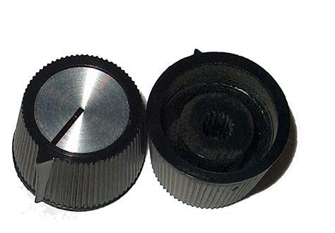 Plastic Knobs Eg 70 S Style Black Plastic Knob For Knurled Shaft Pots
