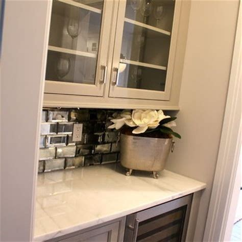 mirror backsplash home bar traditional with mirror subway 20 best images about dry bar on pinterest sacks built