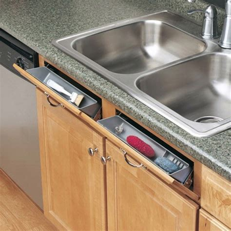 Under Sink Trays by Sneaky Sink Storage False Drawer Fronts The Ugly