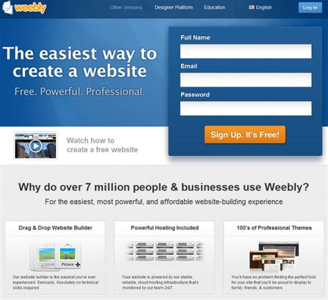 how to create a free weebly site 187 webnots create a free and easy business website with weebly 3bug