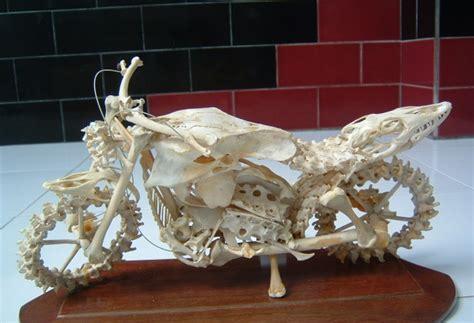 cara membuat kerajinan tangan daerah jawa barat miniatur kendaraan bermotor dari tulang ayam jowonews com