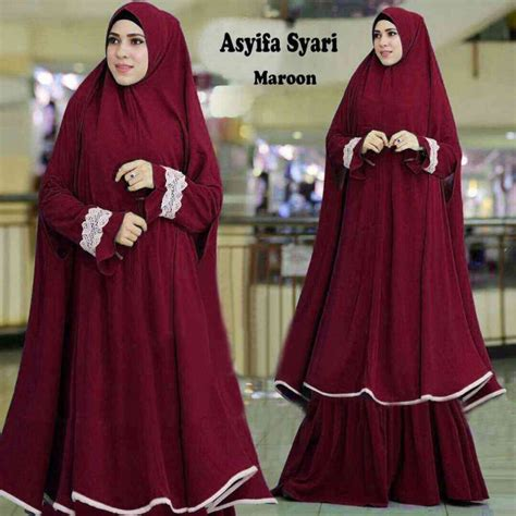 Setelan Lengan Lubang Terbaru baju gamis terbaru lengan lonceng asyifa model baju gamis terbaru