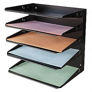 Horizontal Desk Organizer Grainger Approved Desk Organizer 5 Horizontal Compartment 1dnp5 1dnp5 Grainger