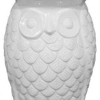 White Owl Garden Stool by Ceramic Vintage Lantern Owl White By Modclay On Etsy