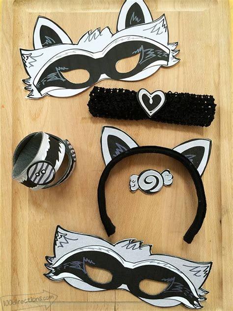 Raccoon Mask Printable