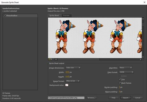 adobe photoshop sprite tutorial export animations for mobile apps and game engines