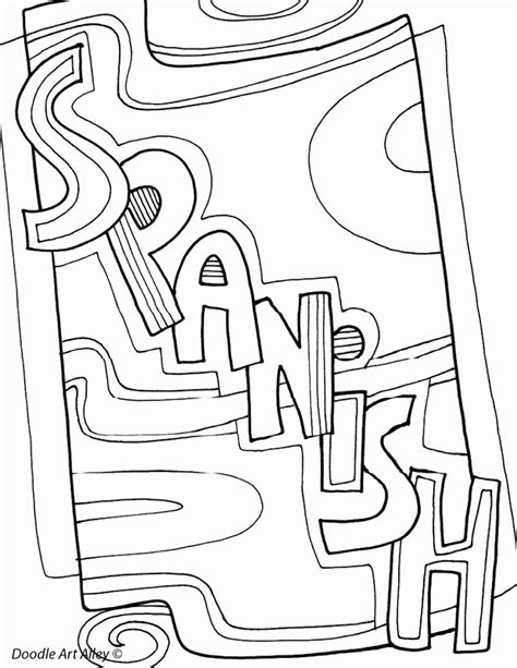 coloring pages with spanish words spanish coloring page coloring home
