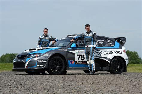 subaru racing subaru racing drivers david higgins and travis pastrana