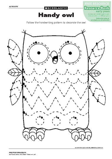 pattern activities early years handy owl free early years teaching resource scholastic